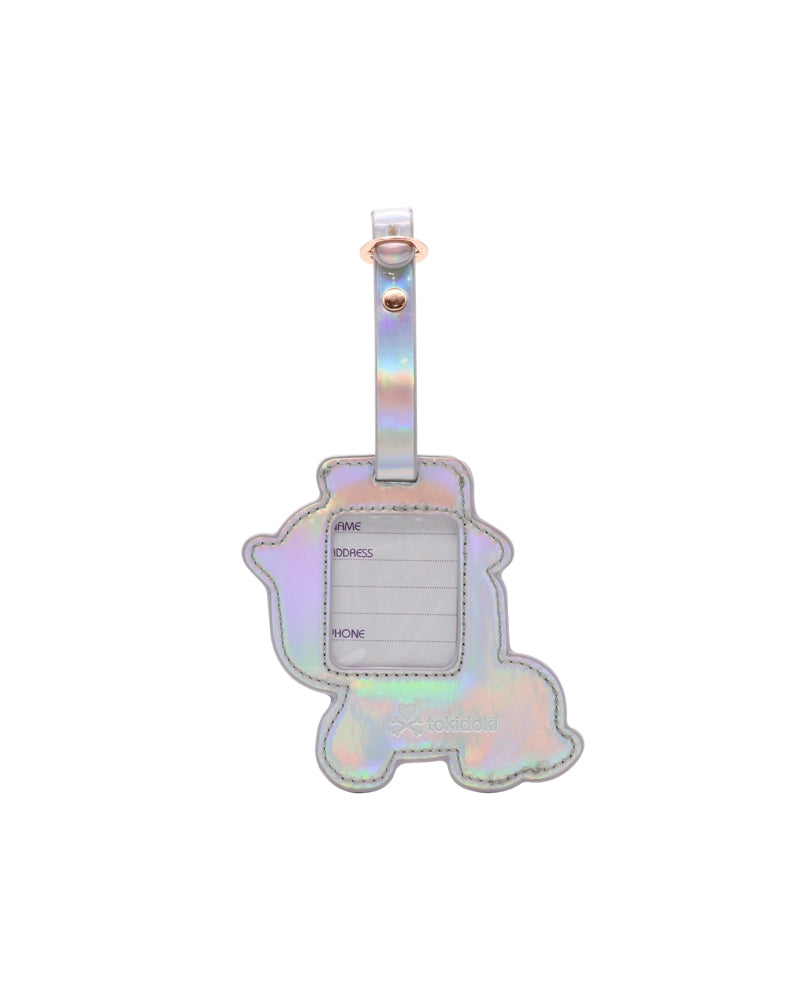 Camo Kawaii Star Fairy Unicorno Luggage Tag back