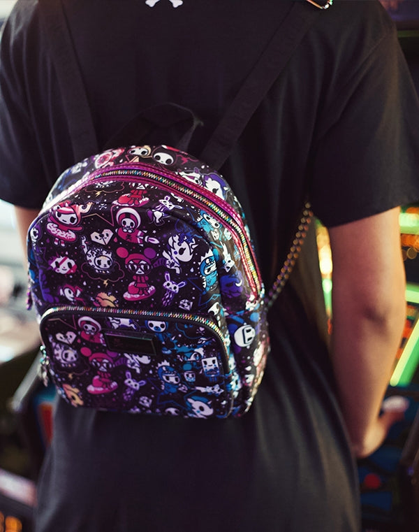 Galactic Dreams Mini Backpack with model