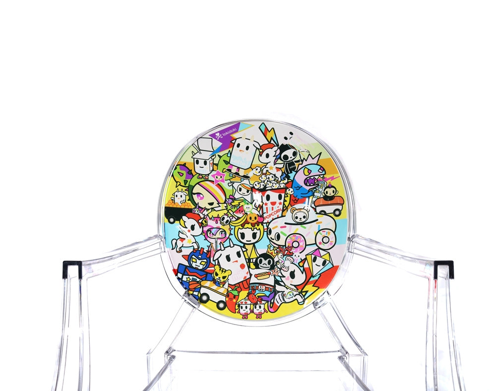 tokidoki x Kartell Lou Lou Ghost Chair close up