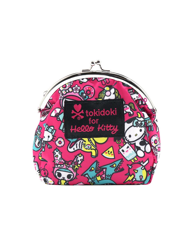 tokidoki x Hello Kitty Kawaii Kisslock Coin Purse front