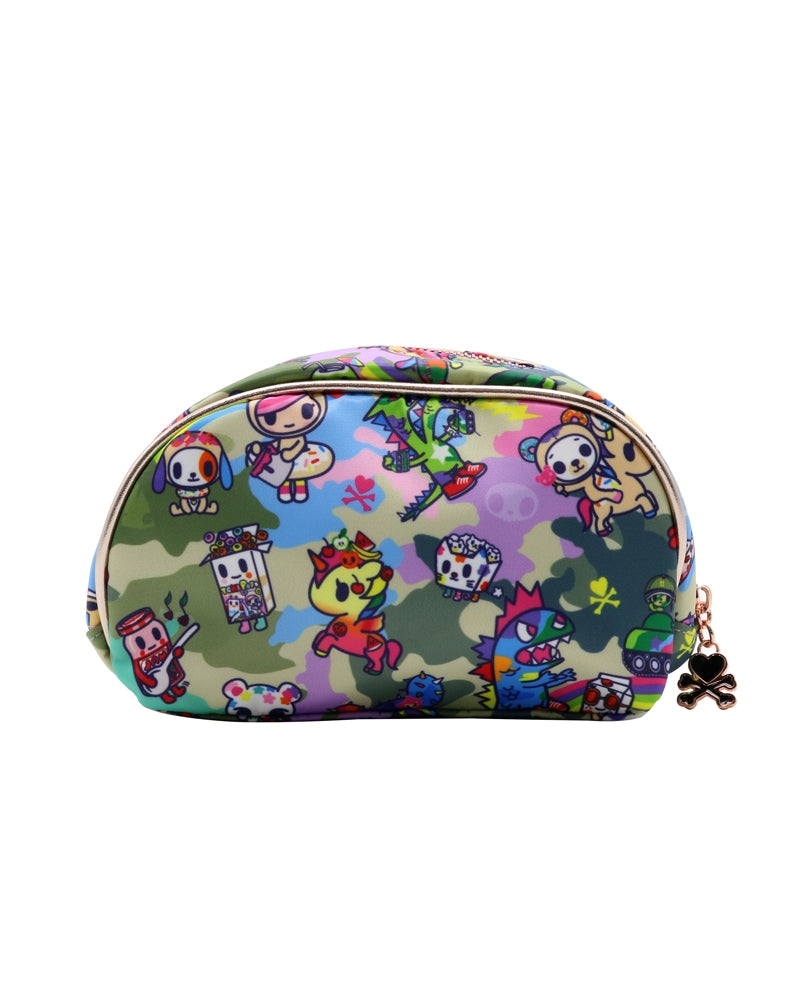 Camo Kawaii Cosmetic Bag back