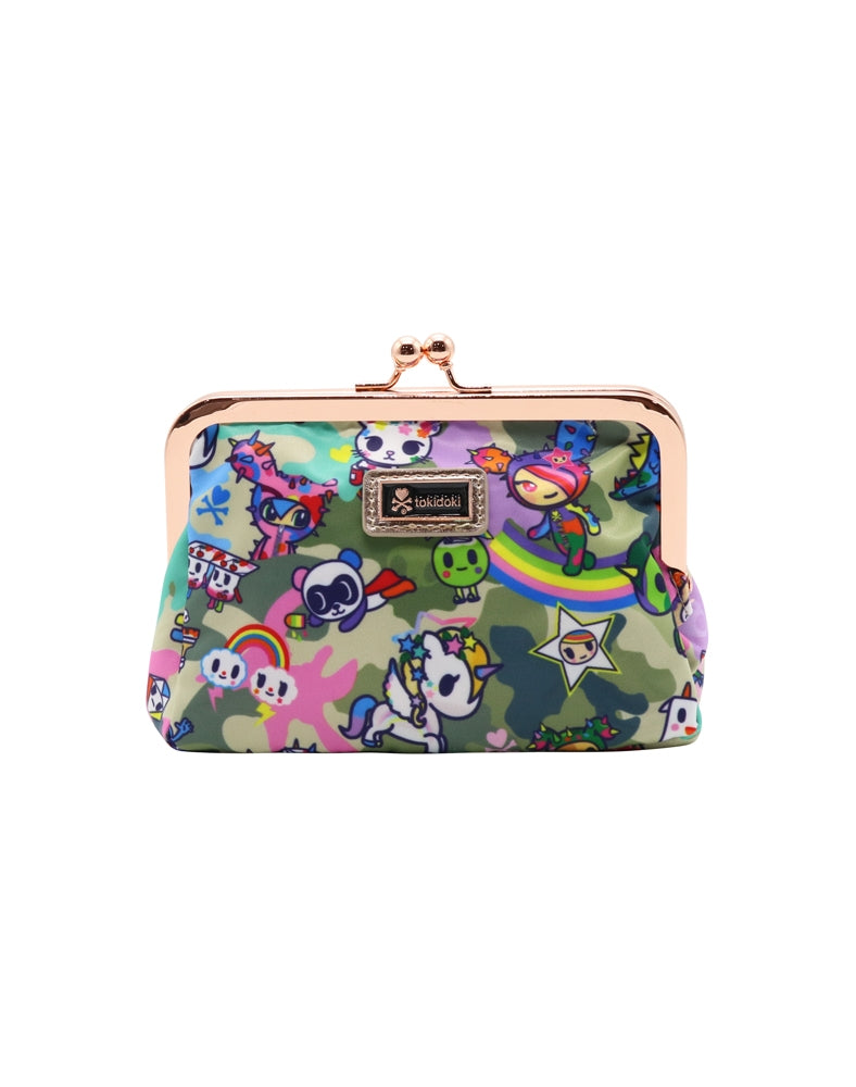 Camo Kawaii Kisslock Coin Purse front