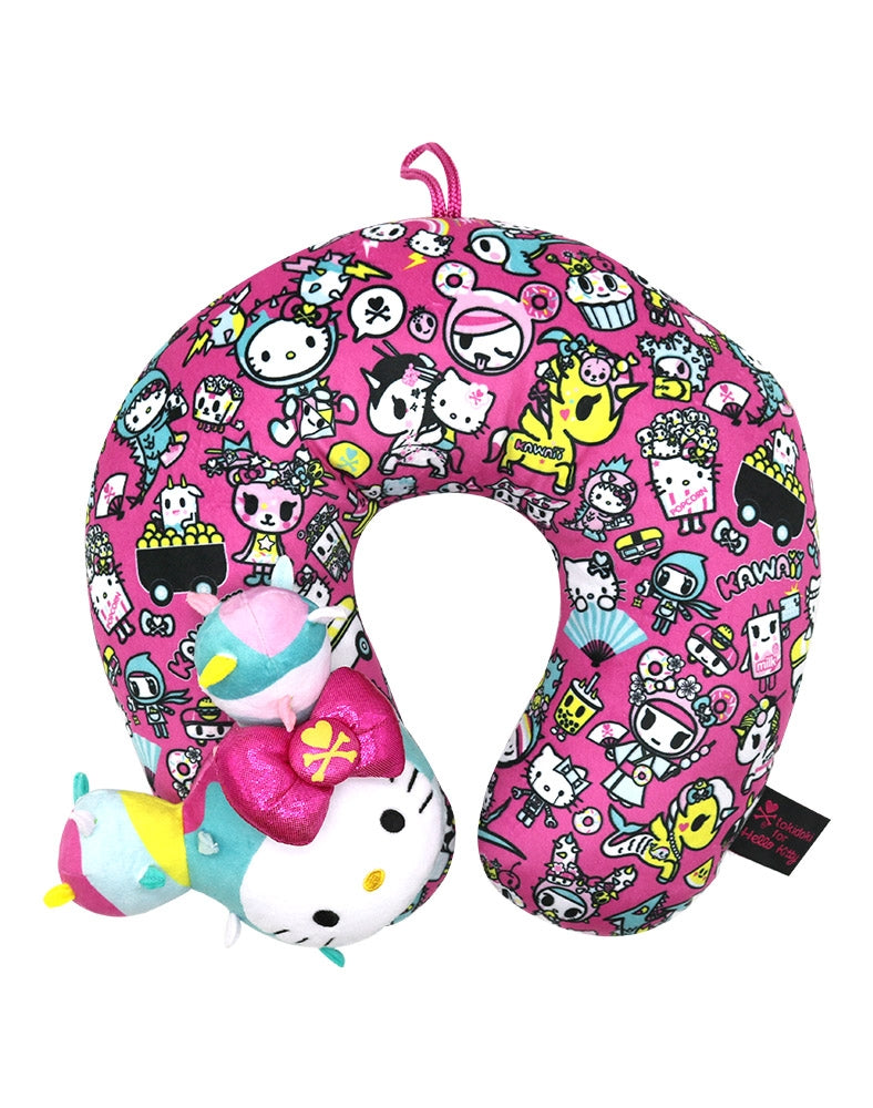 tokidoki x Hello Kitty Kawaii Neck Pillow above