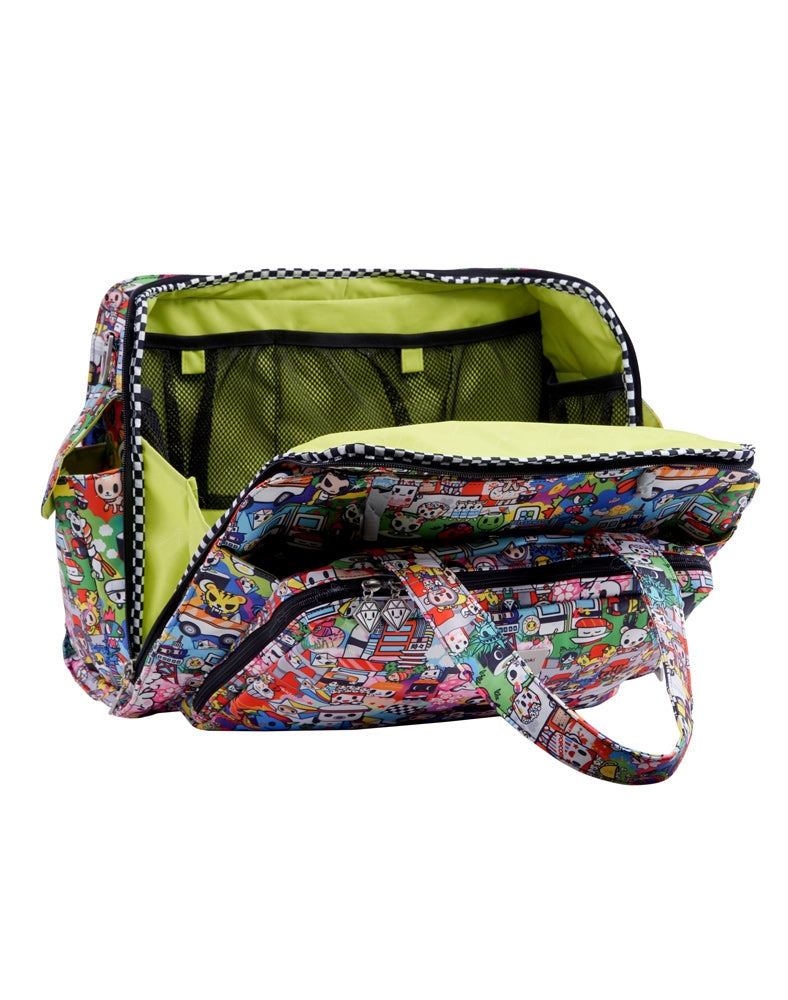 tokidoki x Ju-Ju-Be Be Prepared Diaper Bag Sushi Cars open inside