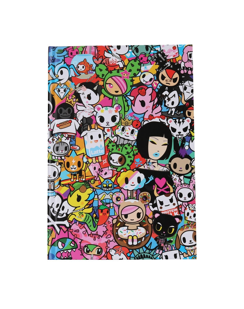 tokdioki All Stars Hard Cover Notebook back cover
