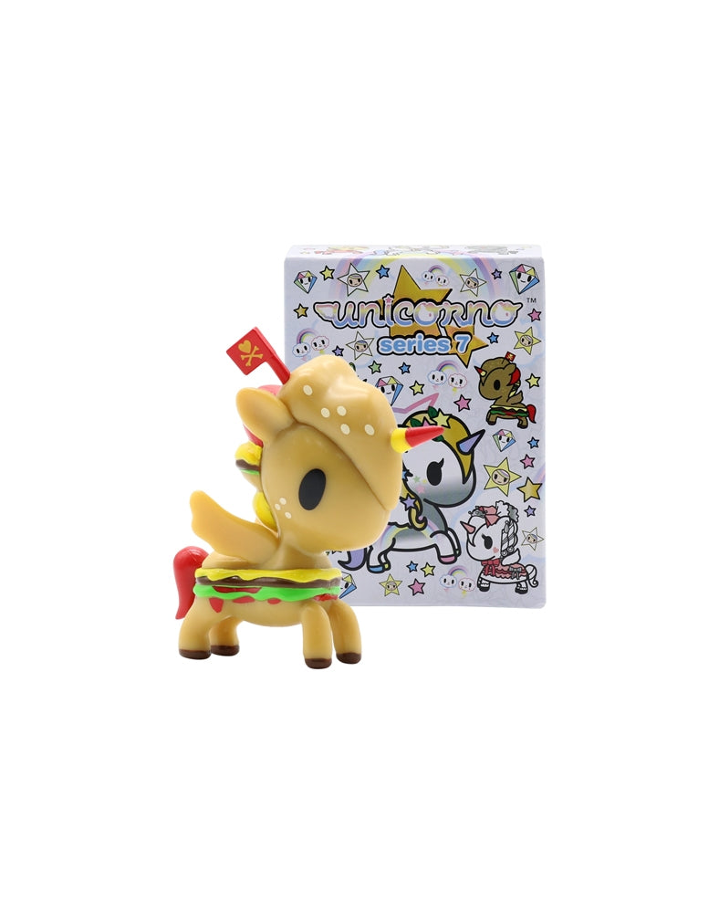 Unicorno Series 7 Blind Box figure next to box
