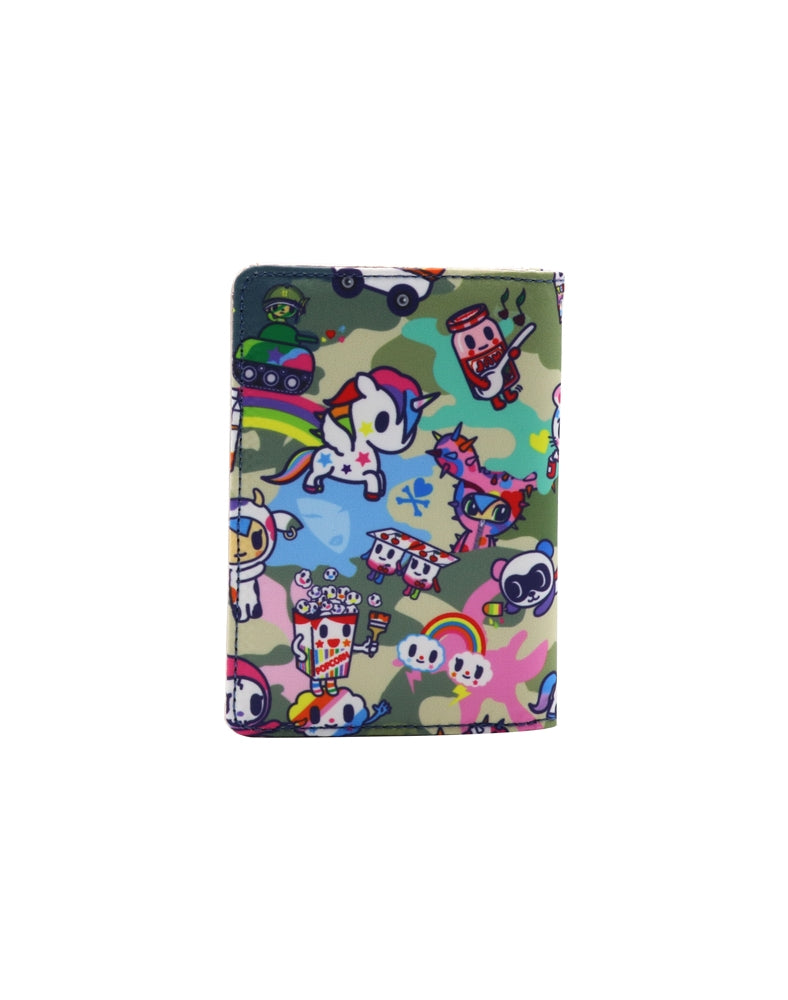 Camo Kawaii Passport Wallet back