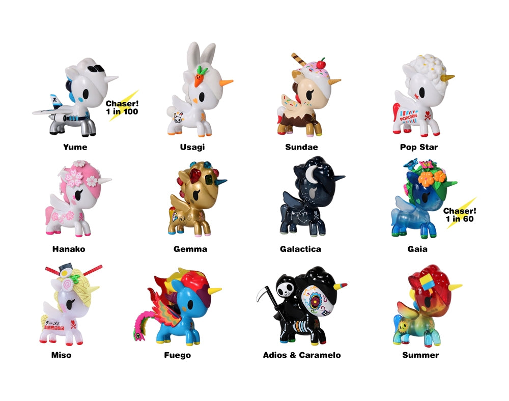 Unicorno Series 6 Blind Box figures with names