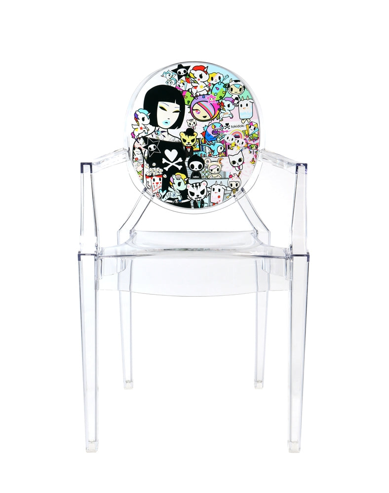 tokidoki x Kartell Louis Ghost Chair front full shot