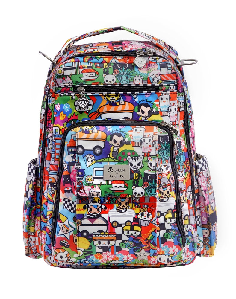 tokidoki x Ju-Ju-Be Be Right Back Backpack Sushi Cars front