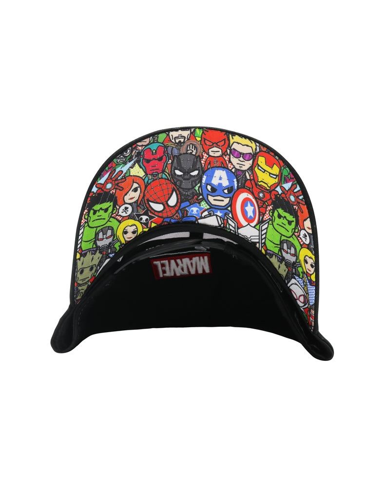 Marvel | tokidoki Ready for Action Women's Snapback brim underside