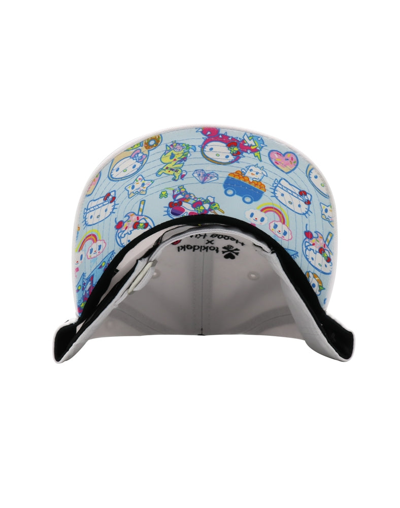 tokidoki x Hello Kitty Kaiju Kitty Bow Women's Adjustable Dad Hat brim underside