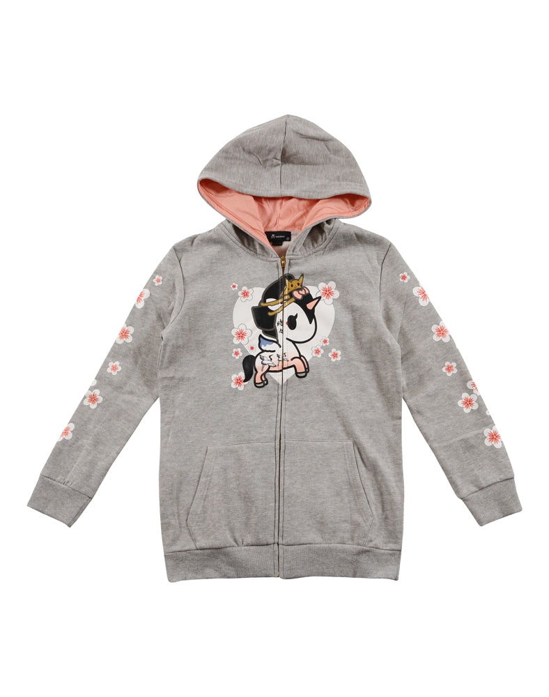 Porcelain Unicorno Long Hoodie front