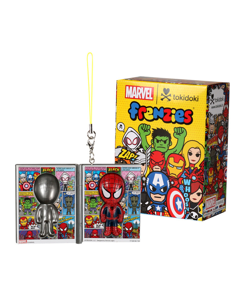 Marvel | tokidoki frenzies figure next to box