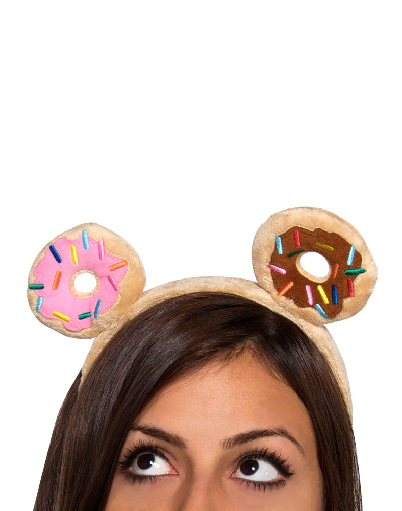 Donutella Plush Headband on model