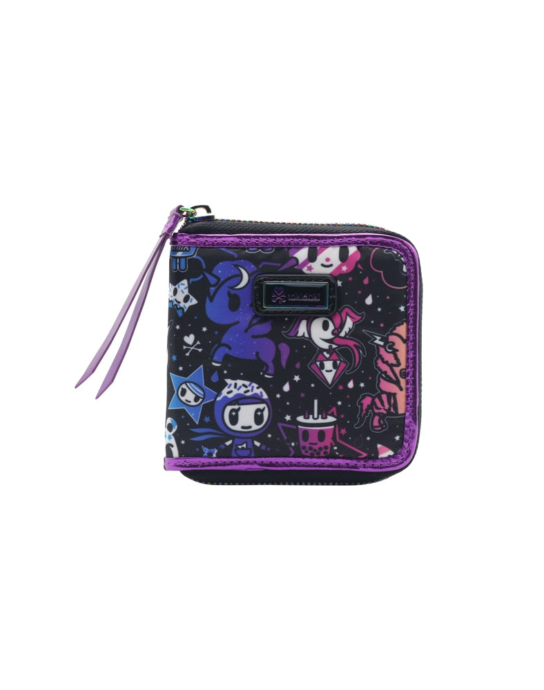 Galactic Dreams Small Zip Around Wallet front