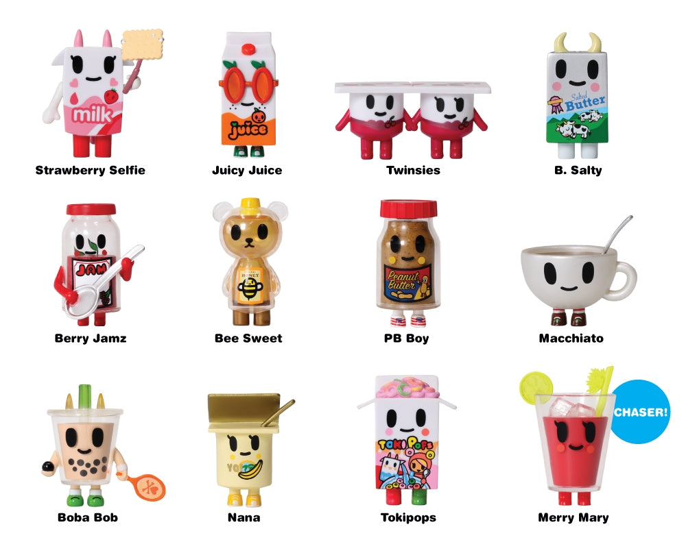 Moofia Breakfast Besties Blind Box Collectibles figures with names