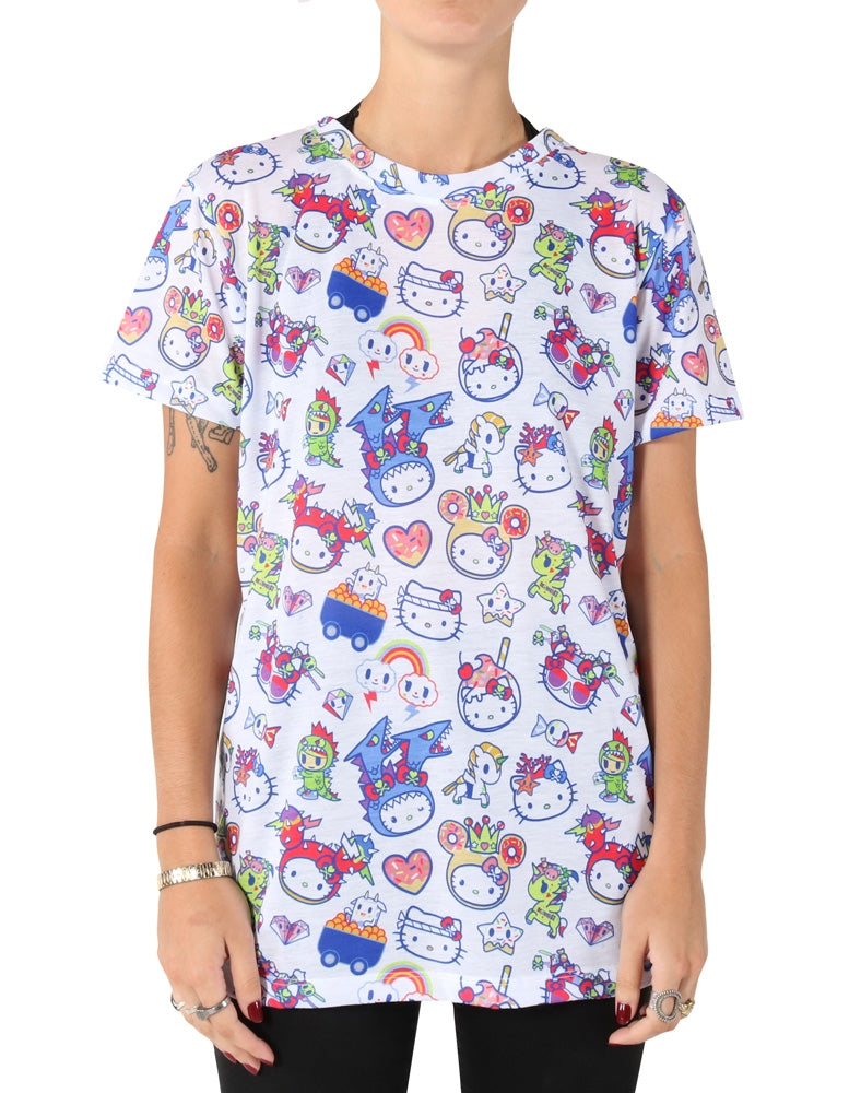 tokidoki x Hello Kitty Feeling Blue Boy Fit Tee front