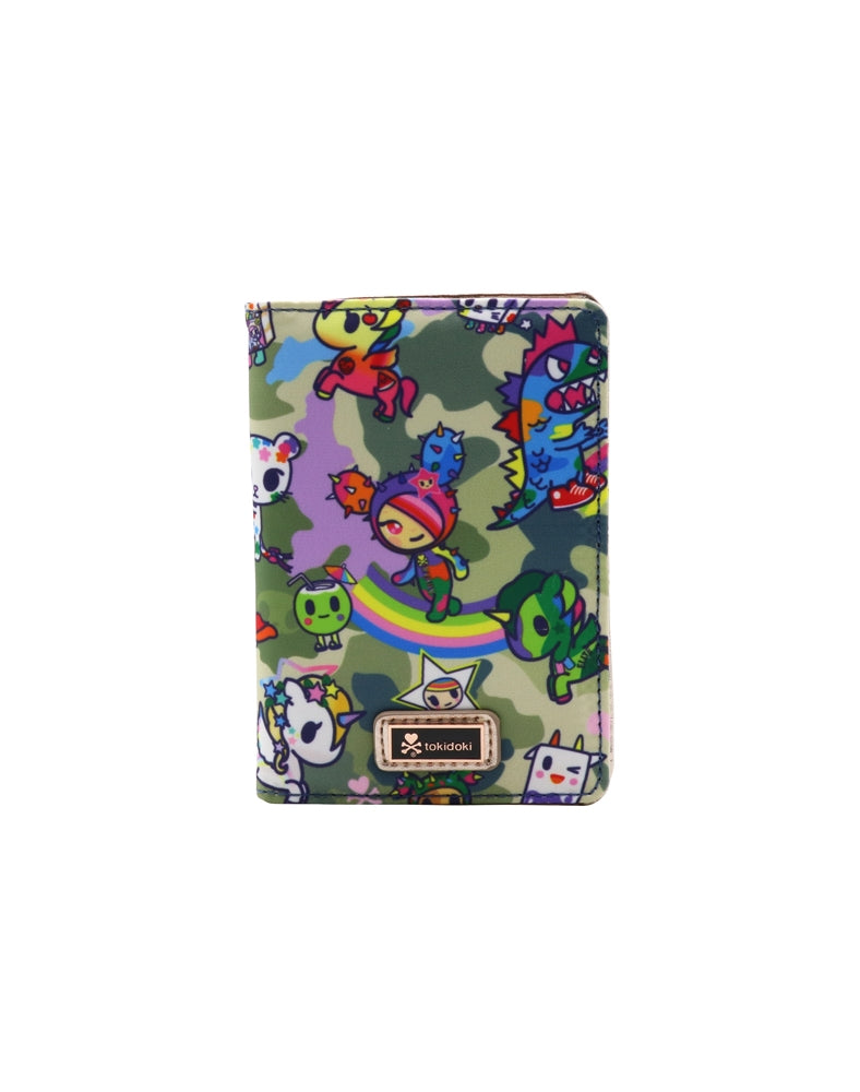 Camo Kawaii Passport Wallet front