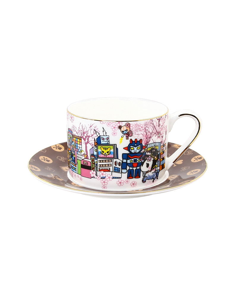 Around the World Series Cherry Blossom Ceramic Cup and Saucer