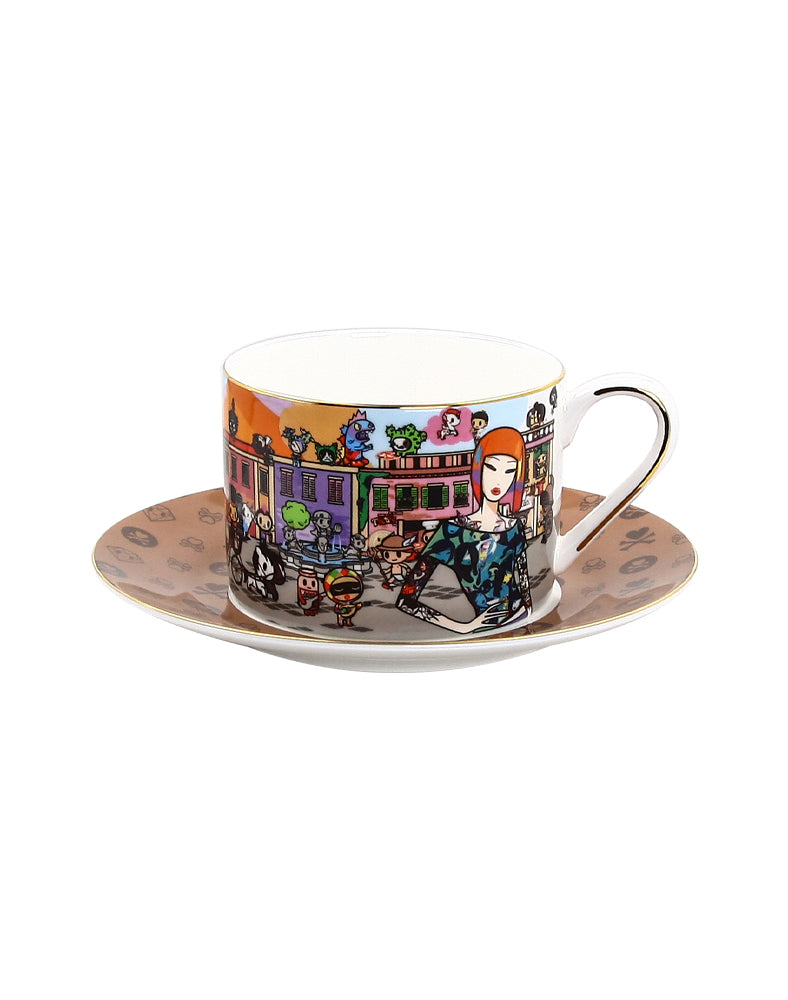 Around the World Series Rome Ceramic Cup and Saucer
