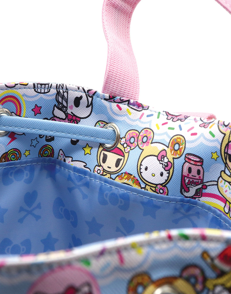 tokidoki x Hello Kitty Sky Blue Backpack Lining
