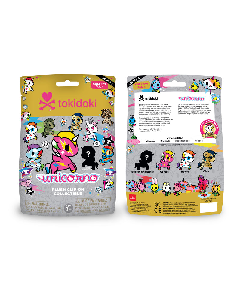 Unicorno Plush Clip-On Blind Bag Series 2