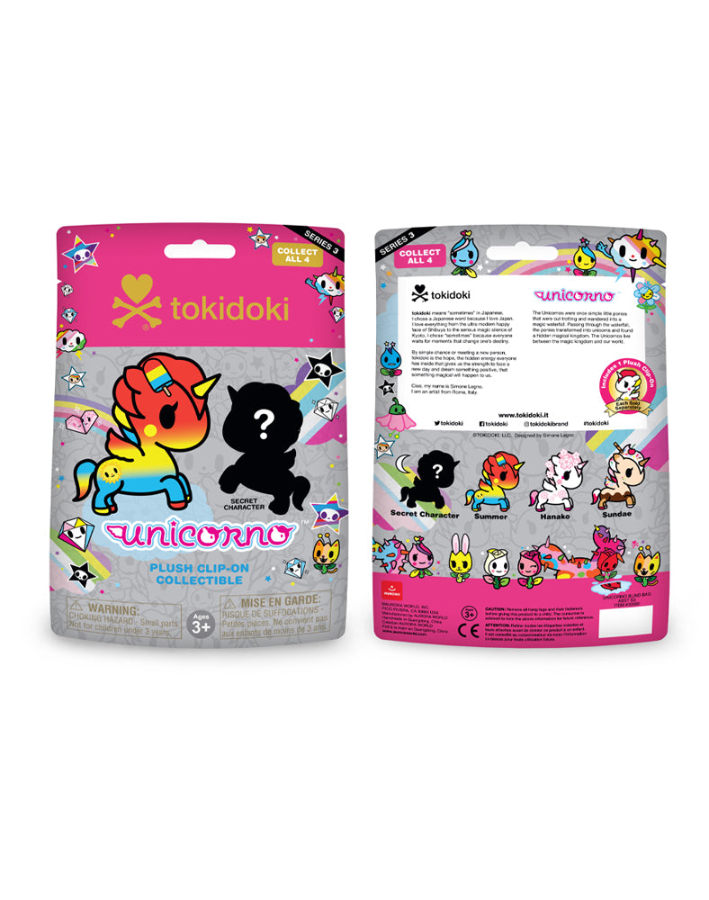 Unicorno Plush Clip-On Blind Bag Series 3