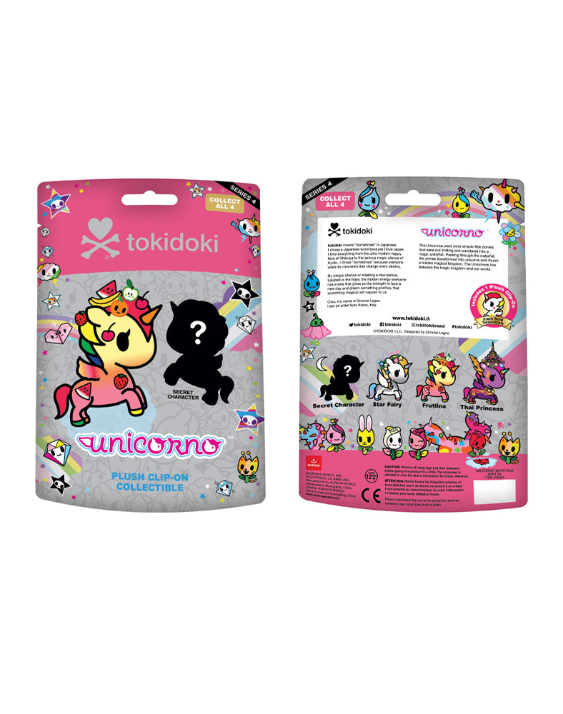 Unicorno Plush Clip-On Blind Bag Series 4