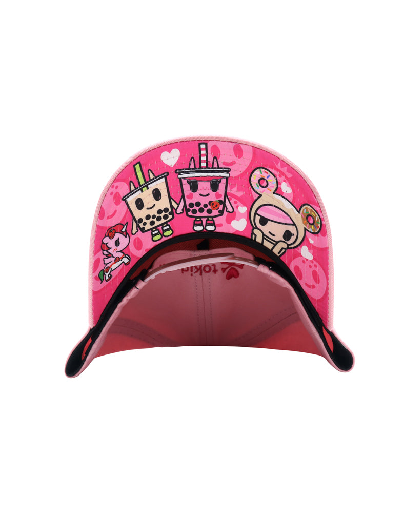 Boba Love Women's Snapback under brim