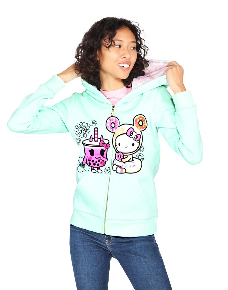 tokidoki x Hello Kitty Boba BFF Kitty Hoodie Front Alt View