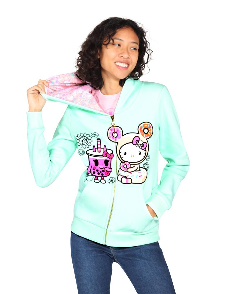 tokidoki x Hello Kitty Boba BFF Kitty Hoodie Front