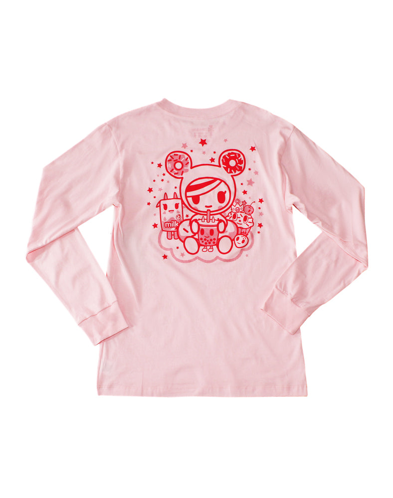 Boba Dreaming Long Sleeve Tee (Unisex) Back
