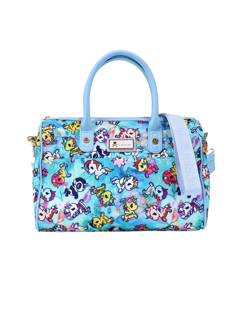 Watercolor Paradise Bowler Bag front