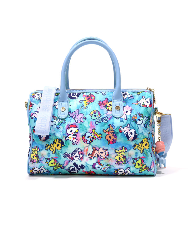 Watercolor Paradise Bowler Bag back