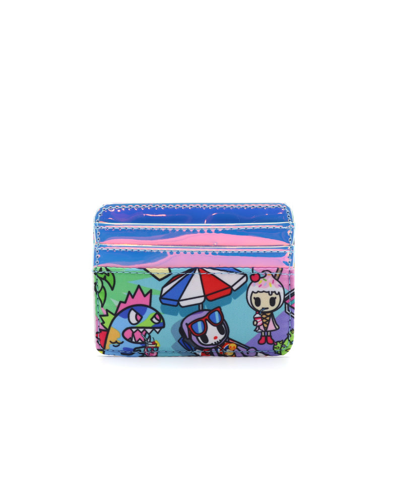 Pool Party Flat Card Holder Back