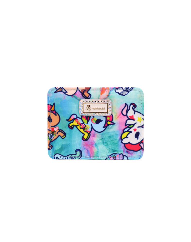 Watercolor Paradise Flat Card Holder front
