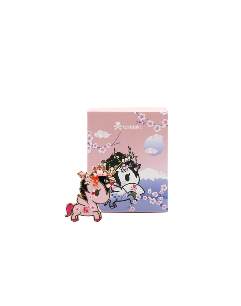 Cherry Blossom Unicorno Pin Badge Blind Box