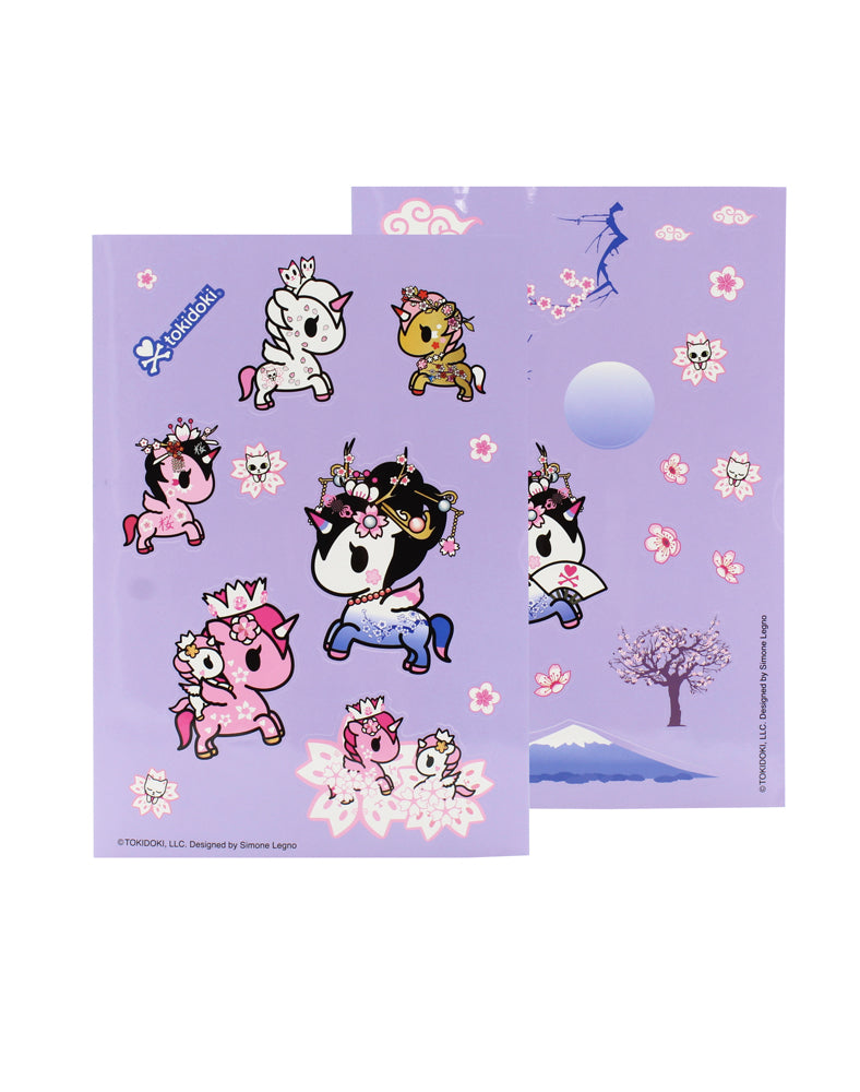 Cherry Blossom Unicorno Sticker Sheet Set