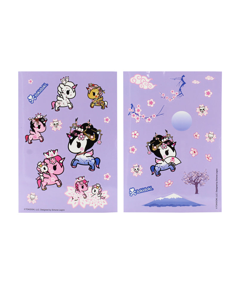 Cherry Blossom Unicorno Sticker Sheet Set Alt Shot