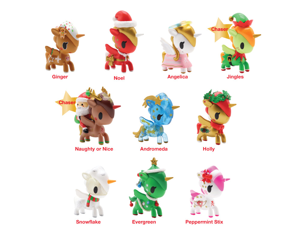Holiday Unicorno Blind Box Series 1 Roster