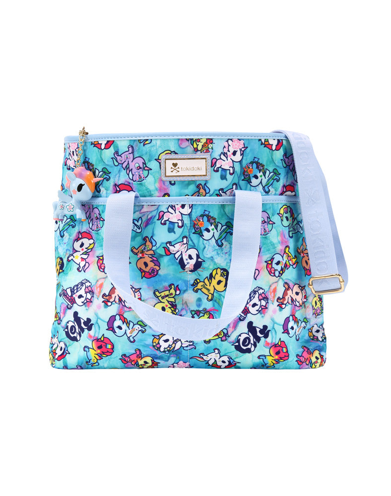 Watercolor Paradise Cinch Crossbody front