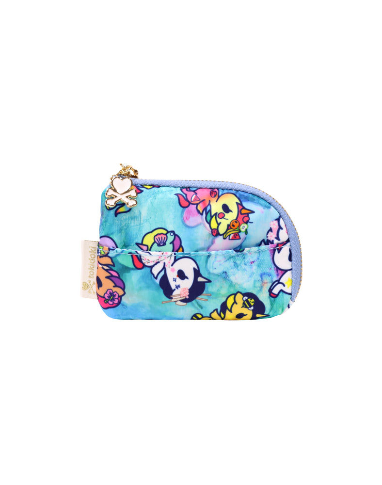 Watercolor Paradise Zip Coin Purse front