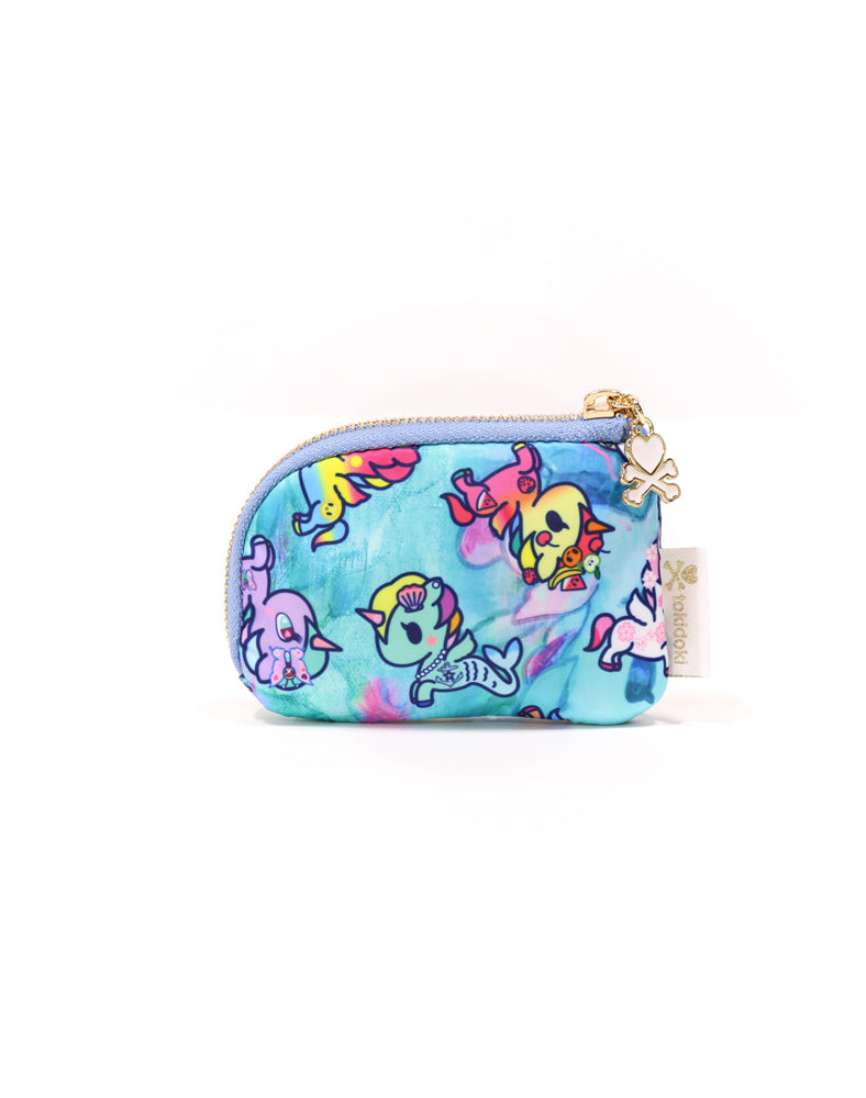 Watercolor Paradise Zip Coin Purse back