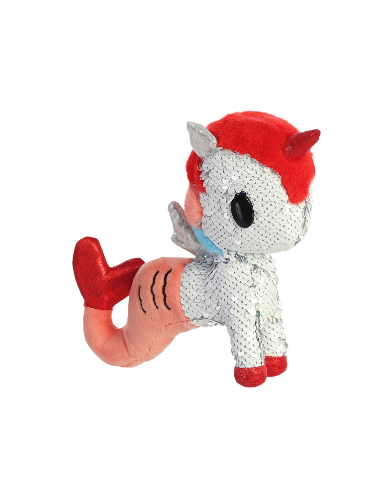 "Cora Mermicorno 7.5"" Reversible Sequin Plush"