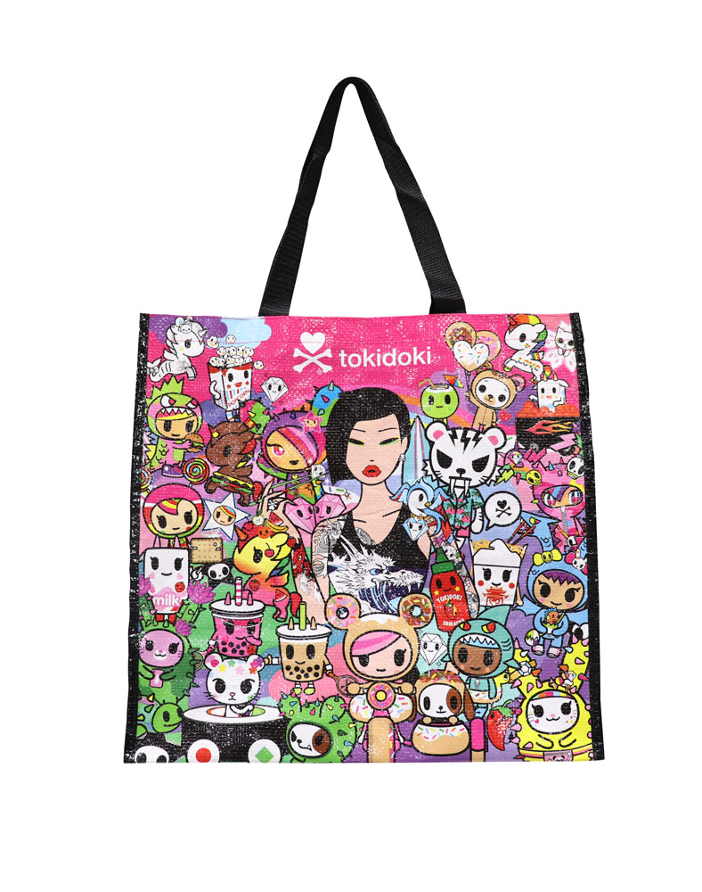 Cotton Candy Dreamin' Vinyl Tote front