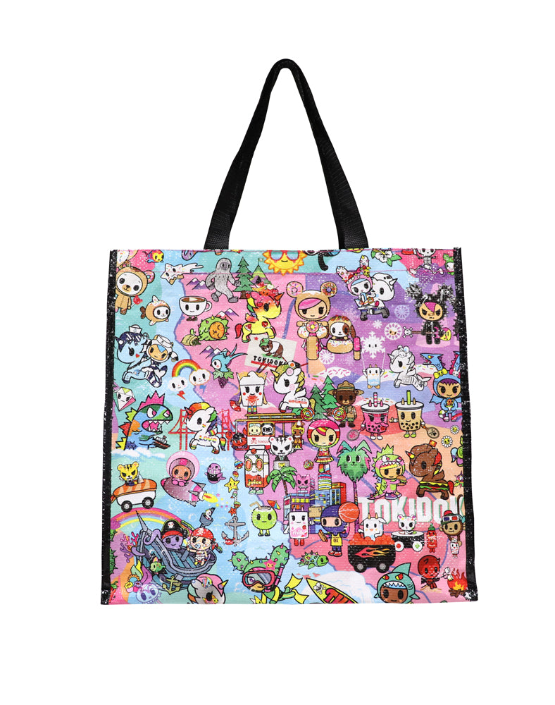Cotton Candy Dreamin' Vinyl Tote back