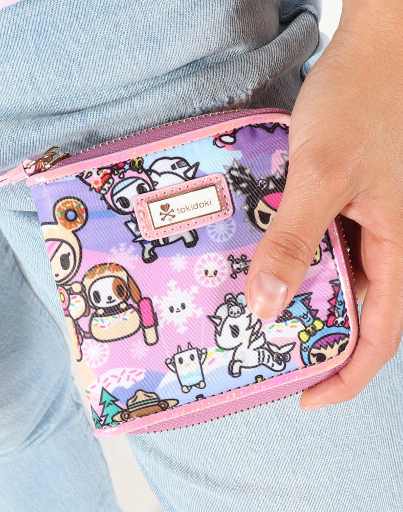 tokidoki-Con Cotton Candy Dreamin' Small Zip Around Wallet Lifestyle