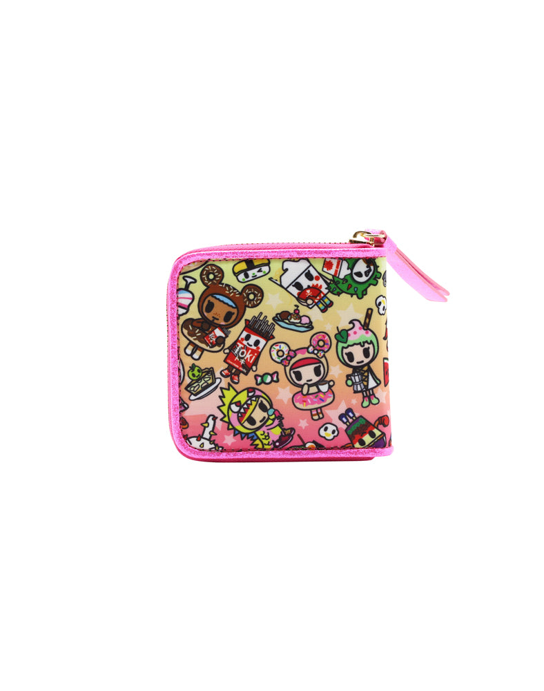 tokidoki-Con Cravings Small Zip Around Wallet Back