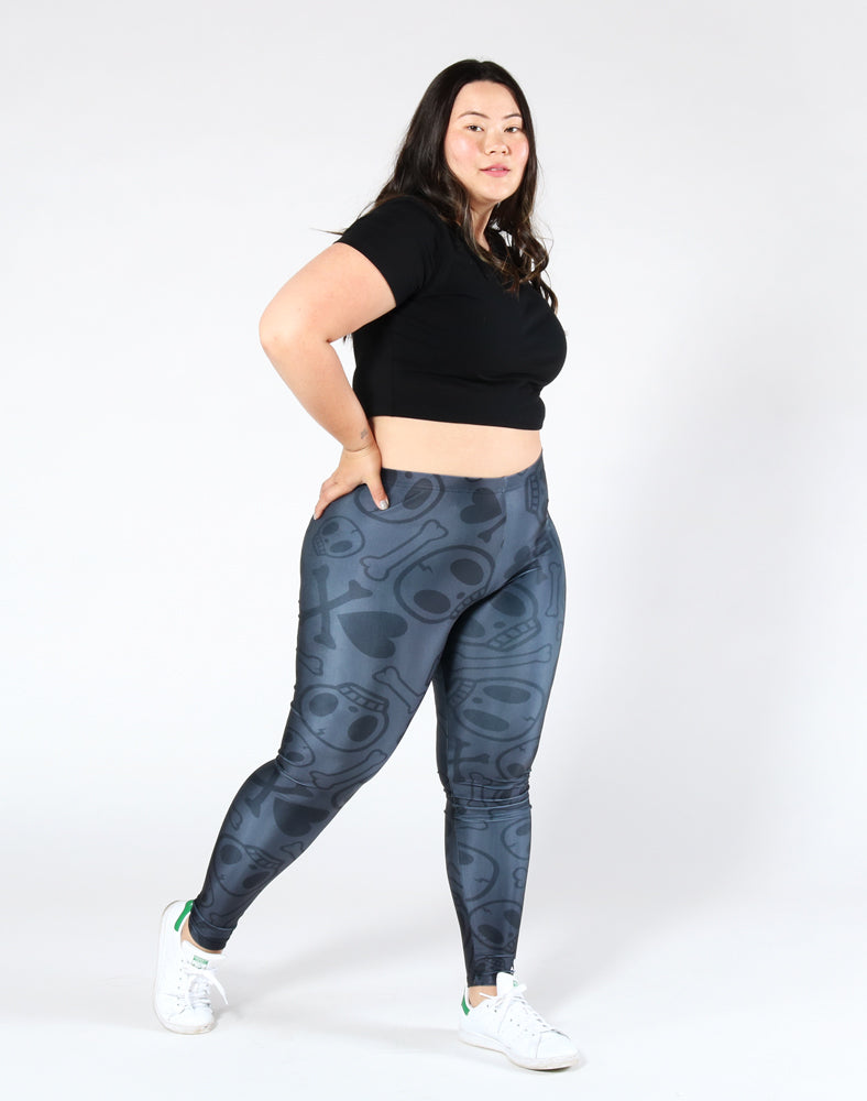 Crossbones Leggings - Black Front 2
